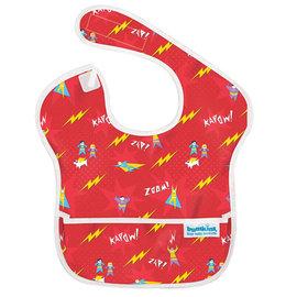 【紫貝殼】『SU06-17』2016年最新 美國Bumkins防水兒童圍兜(一般無袖款6個月~2歲適用)-小超人 BKS-400【保證公司貨】