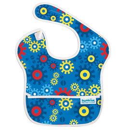 【紫貝殼】『SU06-14』2016年最新 美國Bumkins防水兒童圍兜(一般無袖款6個月~2歲適用)-藍色齒輪 BKS-690【保證公司貨】