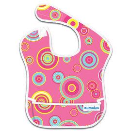 【紫貝殼】『SU06-11』2016年最新 美國Bumkins防水兒童圍兜(一般無袖款6個月~2歲適用)-粉紅普普 BKS-420【保證公司貨】