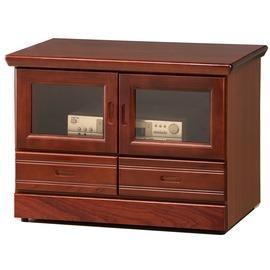 型舍 ^~A694^~自然氣息 雙門雙抽長櫃 柚木色木紋