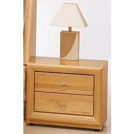 型舍 ^~F862^~實木紋路 二抽床頭櫃 赤陽木木紋