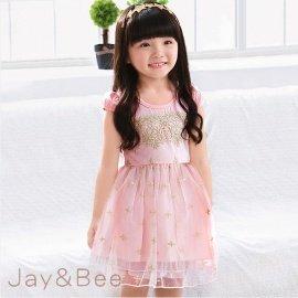 ~捷比 ~wonBoRn~JW364015~公主燙金刺繡織紗蓬蓬洋裝~二色