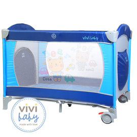 ViViBaby ~ 托比熊雙層遊戲床 ^(附蚊帳^)