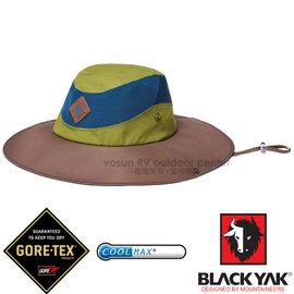 【韓國 BLACK YAK】中性新款 潮流暢銷款GORE-TEX防風防水遮陽圓盤帽.大盤帽.遮陽帽.休閒帽.牛仔帽/COOLMAX吸濕排汗/BY161NAH0157 灰藍