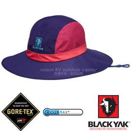 【韓國 BLACK YAK】女新款 潮流暢銷款GORE-TEX防風防水撞色圓盤帽.大盤帽.遮陽帽.休閒帽.牛仔帽/COOLMAX吸濕排汗纖維/BY161WAH0164 藍紫