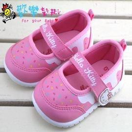 ~歡樂童鞋 ~Hello Kitty~716204粉~可愛娃娃鞋^(13cm^~18cm^