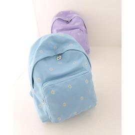 中學生日韓書包小碎花帆布雙肩包小清新森系女 背包淑女包