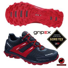 【瑞士 MAMMUT 長毛象】男新款 MTR 71 Trail Gore Tex 超輕量透氣多功能運動休閒鞋(黃金避震).登山健行/Gripex鞋底/02961-0609 灰/地獄紅