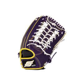 JJS 棒壘球手套  訂製款牛皮手套_紫