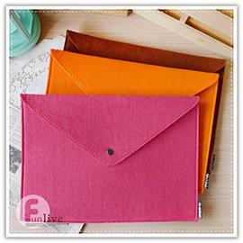 【Q禮品】B2910 A4不織布文件袋/信封式 羊毛氈 文件夾/收納袋/有釦文件袋/夾鏈袋/資料夾/收納包/手拿包