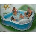 玩樂 美國INTEX 56475 靠背方型四位充氣游泳池 兒童戲水池 幼兒夏天玩水池 嬰兒