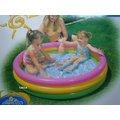 玩樂 美國INTEX 57412彩虹三層充氣游泳池 兒童戲水池 幼兒夏天玩水池 嬰兒遊戲球