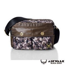 AIRWALK 輕裝騎兵~迷彩雙前袋側肩包~小^(兩色^)