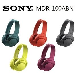 ~加贈32G隨身碟  收納包~SONY MDR~100ABN h.ear on 無線降噪耳