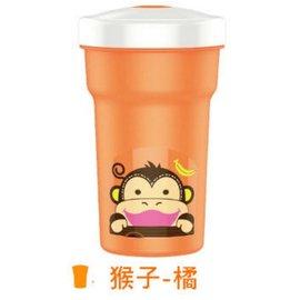 【紫貝殼】『DC11-3』【韓國 EDISON 愛迪生】防漏吸管水杯2代 300ml 猴子橘【保證原廠公司貨】