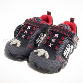 Skechers  恐龍夜光 兒童電燈鞋-黑-90461LCCBK