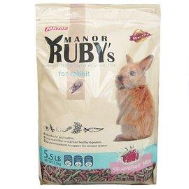 ~超級寵物~RUBY邦比兔料 ^(草莓牛奶 綜合野菜^) 兔飼料5.5LB