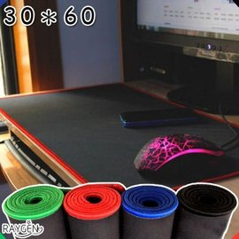 加厚3MM 滑鼠墊 鎖邊 電腦桌墊 大號 遊戲 辦公室 鍵盤墊 30X60 【HH婦幼館】 .