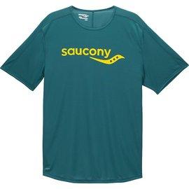 Saucony 短袖圓領衫 深綠 ^(男^)