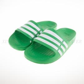 ADIDAS  Duramo Side 系列兒童舒適拖鞋-綠-AF4612
