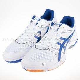 6折出清~Asics  GEL-ROCKET 羽排球鞋-白/藍-B405N-0143