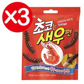 萬花筒 ~LOTTE巧克力蝦味先~首爾 초코 는 새 우편 72g^(包^)^~3 韓國