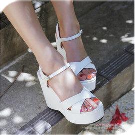 MINA韓國 ^~W688571^~• •百搭優雅甜美厚底涼鞋^~3色5尺寸^~