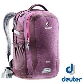 【德國 Deuter】Giga 28L 旅遊後背包‧後背筆電腦包 (肩帶可調整_腰帶可拆)登山健行旅遊包.上班洽公自助旅行.學生書包_80414 黑莓