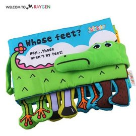 認識動物鱷魚布書 響紙 益智早教玩具【HH婦幼館】