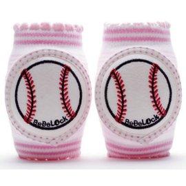 【紫貝殼】『PL09-1』BeBeLock 韓國進口寶寶護膝 棒球投手 粉色
