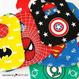 超人蝙蝠俠英雄系列兒童圍兜 口水巾【HH婦幼館】