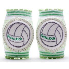 【紫貝殼】『PL09-4』BeBeLock 韓國進口寶寶護膝 排球王子 綠色