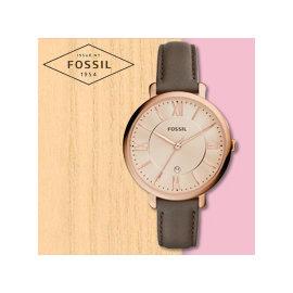 FOSSIL 手錶  ES3707 女錶 石英錶 真皮錶帶 防水 品 一年 開發票