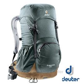 【德國 Deuter】ZUGSPITZE 網架直立式透氣背包24L.登山健行背包.自助旅行背包.旅行背包/Aircomfort 透氣網架背負系統/3430116 灰/咖
