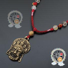 瑪哈嘎啦^~銅牌^~中國結項鍊~十方~