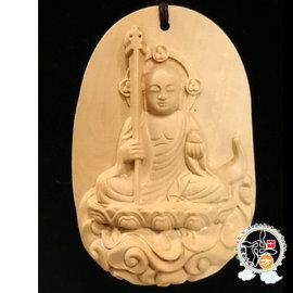 地藏菩薩^~黃楊木^~中國結項鍊  ~十方~
