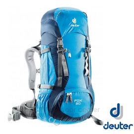 【德國 Deuter】FOX 30+4L 防潑水輕量高山拔熱透氣背包(可調背長_附安全哨)登山健行.自助旅遊/彈性鋼材/36053 藍/深藍