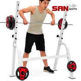 SAN SPORTS重力訓練舉重架C177-1060(槓鈴架啞鈴架長槓心架.臥推架深蹲架臥舉架硬舉架.舉重床架重量訓練機架台.運動健身器材.推薦哪裡買)