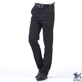 【NST Jeans】極簡內斂黑 羊毛x萊卡 平面西裝褲 中腰  391 6927 _大