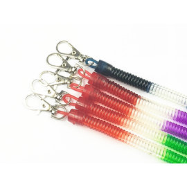 多功能優質 P字扣/塑膠扣/塑膠繩/伸縮繩/彈簧繩鑰匙圈/伸縮筆扣 **13CM-中粗彩色*