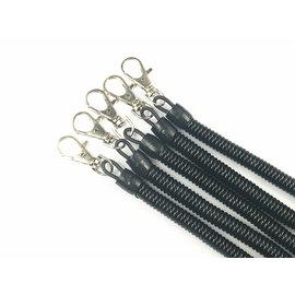 多功能優質 P字扣/塑膠扣/塑膠繩/伸縮繩/彈簧繩鑰匙圈/伸縮筆扣 **13CM-中粗黑色*