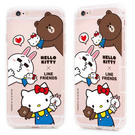 ★APP Studio★【GARMMA 】Hello Kitty X Line iPhone 6/6S 4.7吋-空壓氣墊防摔保護軟殼-哈囉夥伴