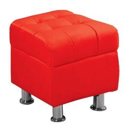 ~FC181~9~庫倫40紅皮沙發椅凳
