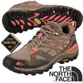 【美國 The North Face】女新款 HEDGEHOG FASTPACK GORE-TEX 低筒輕量登山健行鞋.多功能登山鞋.越野鞋.健行鞋/CDG0 小熊棕/狂歡紅 V