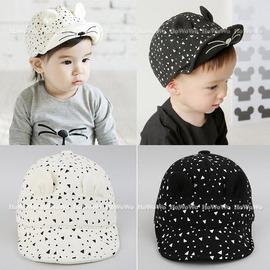 寶寶帽 黑白貓咪棒球帽 鴨舌帽 嬰兒帽 防曬  BU11125