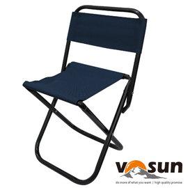【VOSUN】輕量折疊式童軍收納椅.小休閒椅.輕便椅.兒童椅.童軍椅.折疊椅.折合椅.休閒椅 適露營.釣魚/ 深藍 VO-128