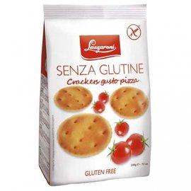 義大利LAZZARO酥脆低鹽 餅乾~番茄披薩 200g