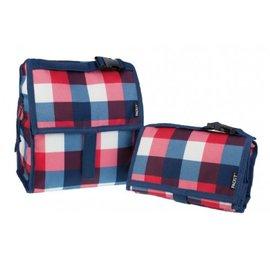 美國 Packit冰袋/多功能冷藏袋(M)-英倫方格,贈:品牌隨手包濕巾*1包  *美國熱銷!!行動式摺疊冰箱~免插電!!保冰最長10HR!!*