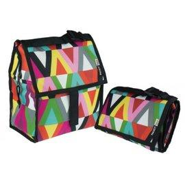 美國 Packit冰袋/多功能冷藏袋(M)-樂活繽紛,贈:品牌隨手包濕巾*1包  *美國熱銷!!行動式摺疊冰箱~免插電!!保冰最長10HR!!*ㄌㄜ