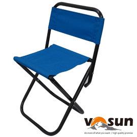 【VOSUN】輕量折疊式童軍收納椅.小休閒椅.輕便椅.兒童椅.童軍椅.折疊椅.折合椅.休閒椅 適露營.釣魚/ 天空藍 VO-129
